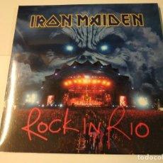 Discos de vinilo: 0621- IRON MAIDEN ROCK IN RIO 3 VINILOS LP NUEVO PRECINTADO EU 2002/2017. Lote 269398203