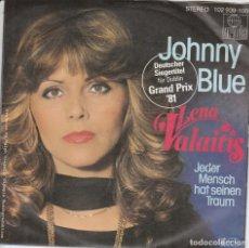 Discos de vinilo: 45 GIRI LENA VALATIS JOHNNY BLUE DEUTSCHER SIEGERTITEL FUR DUBLIN 81. Lote 269402683