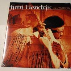 Discos de vinilo: 0621- JIMI HENDRIX LIVE AT WOODSTOCK 3 VINILOS LP NUEVO PRECINTADO GER 2010. Lote 269404568