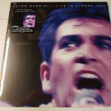 Discos de vinilo: 0621- PETER GABRIEL LIVE IN ATHENS 1987 2 X LP VINYL NUEVO PRECINTADO 2020. Lote 269417198