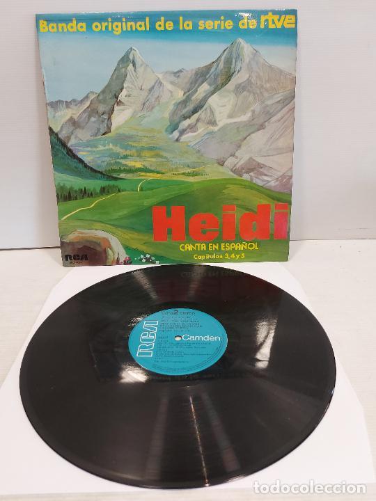 HEIDI CANTA EN ESPAÑOL / CAPÍTULOS 3, 4 Y 5 / LP - RCA-CANDEM-1975 / MBC. ***/*** (Música - Discos - LPs Vinilo - Música Infantil)