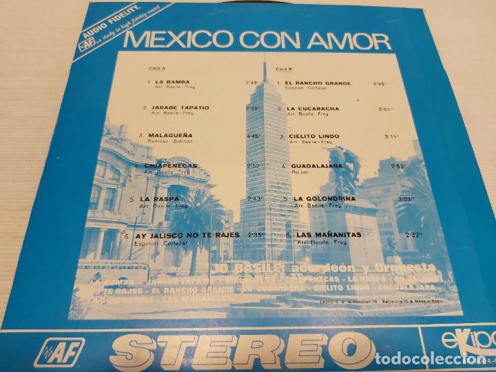 Discos de vinilo: JO BASILE, ACORDEÓN Y ORQUESTA / MEXICO CON AMOR / LP-EKIPO-1970 / MBC. ***/*** - Foto 2 - 269455668