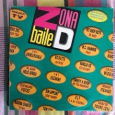Discos de vinilo: VV.AA. - ZONA DE BAILE - LP DOBLE EMI 1991. Lote 269467708