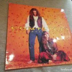 Discos de vinilo: CÓMPLICES-PREGUNTAS Y FLORES. LP. Lote 269474778