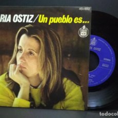 Disques de vinyle: MARIA OSTIZ. UN PUEBLO ES... / TODO TIENE UN FIN. HISPAVOX, 1977 FESTIVAL OTI PEPETO. Lote 269485058