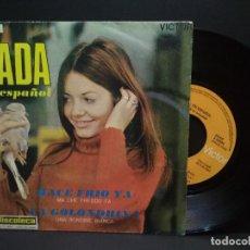 Disques de vinyle: SINGLE / NADA EN ESPAÑOL. HACE FRÍO YA. LA GOLONDRINA. 1969 PEPETO. Lote 269487523