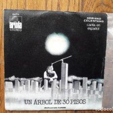 Discos de vinilo: ADRIANO CELENTANO - UN ÁRBOL DE 30 PISOS + REDDY TEDDY. Lote 269575293