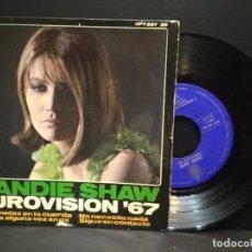 Discos de vinilo: EP SANDIE SHAW - EUROVISION ' 67 - ESPAÑA - AÑO 1967 MARIONETAS +3 PEPETO. Lote 269579813