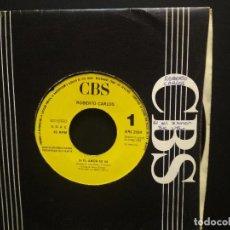 Discos de vinilo: ROBERTO CARLOS SI EL AMOR SE VA SINGLE CBS PROMO SOLO CARA A 1988 PEPETO. Lote 269582378
