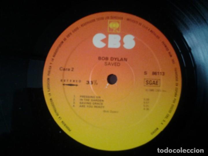 Discos de vinilo: BOB DYLAN - SAVED- LP CBS 1980 ED. ESPAÑOLA S 86113 MUY BUENAS CONDICIONES. - Foto 3 - 269627248