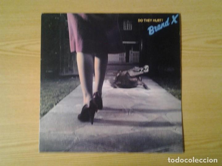 BRAND X -DO THEY HURT?- LP CHARISMA 1980 ED. INGLESA CAS 1151 MUY BUENAS CONDICIONES. (Música - Discos de Vinilo - Maxi Singles - Pop - Rock Internacional de los 90 a la actualidad)