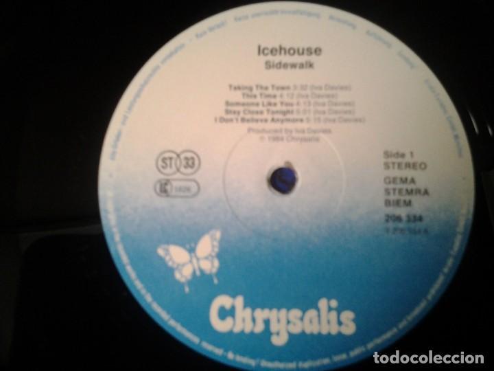 Discos de vinilo: ICEHOUSE -SIDEWALK- LP CHRYSALIS 1984 ED. INGLESA 206 334 MUY BUENAS CONDICIONES. - Foto 3 - 269637278