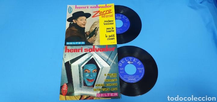 Discos de vinilo: LOTE DE 2 VINILOS DE HENRI SALVADOR - ZORRO EST ARRIVÉ / EL MARCIANO 1964 - Foto 2 - 269638173