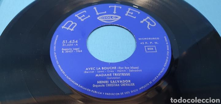 Discos de vinilo: LOTE DE 2 VINILOS DE HENRI SALVADOR - ZORRO EST ARRIVÉ / EL MARCIANO 1964 - Foto 3 - 269638173