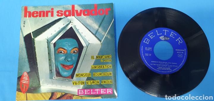 Discos de vinilo: LOTE DE 2 VINILOS DE HENRI SALVADOR - ZORRO EST ARRIVÉ / EL MARCIANO 1964 - Foto 8 - 269638173