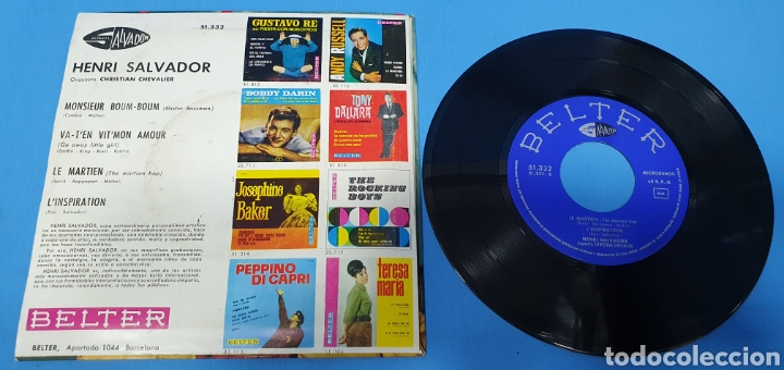 Discos de vinilo: LOTE DE 2 VINILOS DE HENRI SALVADOR - ZORRO EST ARRIVÉ / EL MARCIANO 1964 - Foto 11 - 269638173