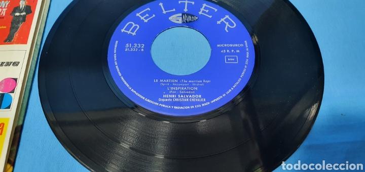 Discos de vinilo: LOTE DE 2 VINILOS DE HENRI SALVADOR - ZORRO EST ARRIVÉ / EL MARCIANO 1964 - Foto 12 - 269638173