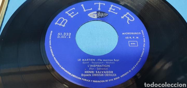 Discos de vinilo: LOTE DE 2 VINILOS DE HENRI SALVADOR - ZORRO EST ARRIVÉ / EL MARCIANO 1964 - Foto 13 - 269638173