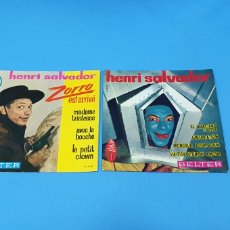 Discos de vinilo: LOTE DE 2 VINILOS DE HENRI SALVADOR - ZORRO EST ARRIVÉ / EL MARCIANO 1964. Lote 269638173