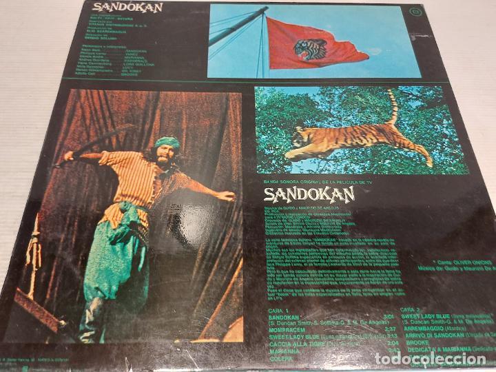 Discos de vinilo: B.S.O. / SANDOKAN / GUIDO Y MAURIZIO DE ANGELIS / LP - RCA-VICTOR-1976 / MBC. ***/*** - Foto 2 - 269643268