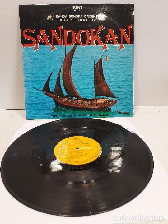B.S.O. / SANDOKAN / GUIDO Y MAURIZIO DE ANGELIS / LP - RCA-VICTOR-1976 / MBC. ***/*** (Música - Discos - LP Vinilo - Bandas Sonoras y Música de Actores )