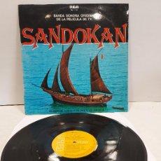 Discos de vinilo: B.S.O. / SANDOKAN / GUIDO Y MAURIZIO DE ANGELIS / LP - RCA-VICTOR-1976 / MBC. ***/***. Lote 269643268