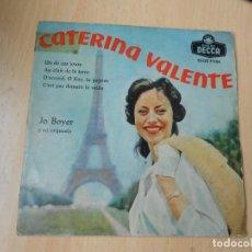 Discos de vinilo: CATERINA VALENTE, EP, UN DE CES JOURS + 3, AÑO 1959. Lote 269643703
