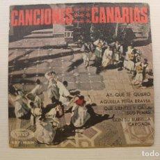 Dischi in vinile: SINGLE CANCIONES CANARIAS, AY QUE TE QUIERO, AQUELLA PEÑA BRAVÍA+2, 1967. Lote 269645593