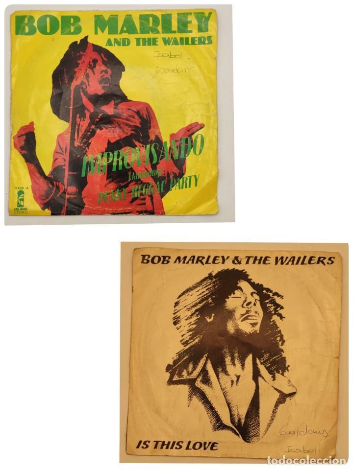 """VINILOS DE 7 PULGADAS DE BOB MARLEY QUE CONTIENEN """" IMPROVISANDO"""", """"PUNKY REGGAE PARTY""""... (Música - Discos de Vinilo - EPs - Reggae - Ska)"""