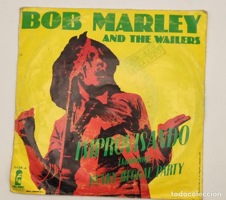"""Discos de vinilo: Vinilos de 7 pulgadas de Bob Marley que contienen """" improvisando"""", """"punky reggae party""""... - Foto 3 - 269649083"""
