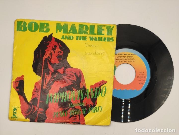 """Discos de vinilo: Vinilos de 7 pulgadas de Bob Marley que contienen """" improvisando"""", """"punky reggae party""""... - Foto 4 - 269649083"""