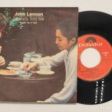 """Discos de vinilo: VINILO DE 7 PULGADAS DE JOHN LENNON Y YOKO ONO QUE CONTIENE """"NOBODY TOLD ME"""" Y """"O'SANITY"""" .... Lote 269649423"""