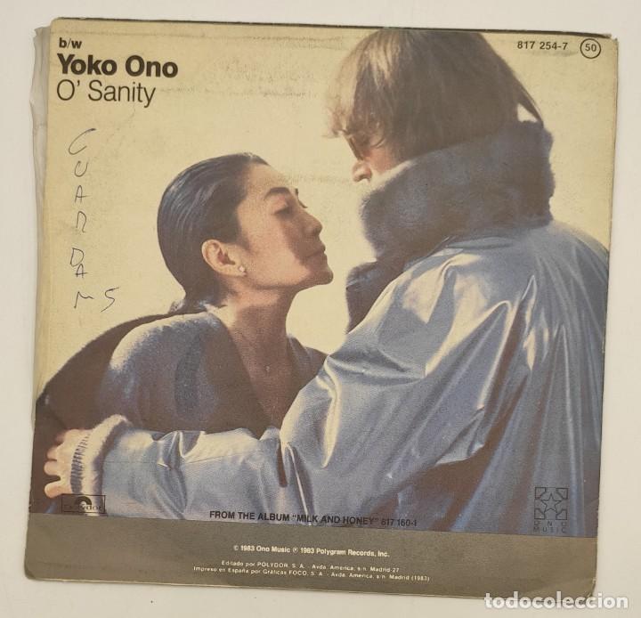"""Discos de vinilo: Vinilo de 7 pulgadas de John Lennon y Yoko Ono que contiene """"nobody told me"""" y """"osanity"""" ... - Foto 3 - 269649423"""