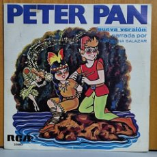 Discos de vinilo: PETER PAN - SINGLE RCA 1967 - VERSION NARRADA POR EVANGELINA SALAZAR. Lote 269681733