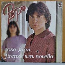 Discos de vinilo: PUPO - COSA FARAI - FIRENZE S.M. NOVELLA - AÑO 1980. Lote 269683988