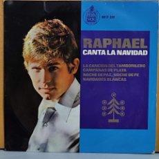 Discos de vinilo: RAPHAEL CANTA A LA NAVIDAD EP HISPAVOS SPA. Lote 269684783