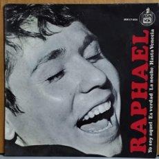 Discos de vinilo: RAPHAEL - YO SOY AQUEL-ES VERDAD-LA NOCHE-HASTA VENECIA. AÑO 1966. EDITADO POR HISPAVOX. Lote 269685138
