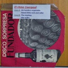 Discos de vinilo: DISCO FUNDADOR - EL RITMO DE LIVERPOOL - LOS EXÓTICOS - UN HOMBRE RESPETABLE+3 - EP 1967. Lote 269691278