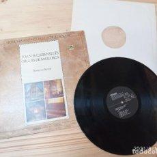 Discos de vinilo: L.P. ANTOLOGÍA HISTÓRICA DE LA MÚSICA CATALANA - ORGUES DE MALLORCA - MONTSERRAT TORRENT - EDIGSA. Lote 269695203