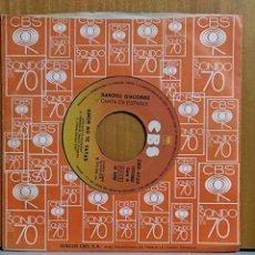 Discos de vinilo: SANDRO GIACOBBE. CANTA EN ESPAÑOL: AMOR NO TE VAYAS/ HACE DIEZ AÑOS. CBS, SPAIN 1976 SINGLE. Lote 269698398