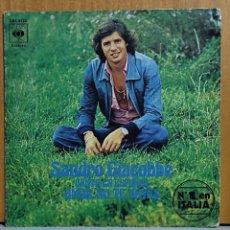 Discos de vinilo: SANDRO GIACOBBE. CANTA EN ESPAÑOL: AMOR NO TE VAYAS/ HACE DIEZ AÑOS. CBS, SPAIN 1976 SINGLE. Lote 269698483
