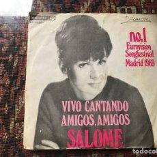 Discos de vinilo: SALOMÉ. VIVO CANTANDO. EUROVISIÓN 69. Lote 269701138
