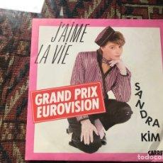 Discos de vinilo: SANDRA KIM .J'AIME LA VIE. EUROVISION. Lote 269701343