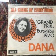 Discos de vinilo: DANA. ALL KINDS OF EVERYTHING. EUROVISIÓN 70. Lote 269703713