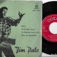 Dischi in vinile: JIM DALE EP SUGARTIME ODEON 1958 ROCK. Lote 269704113