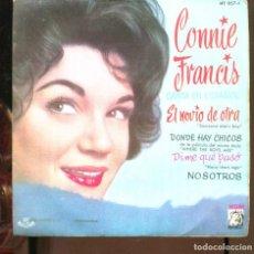 Discos de vinilo: CONNIE FRANCIS CANTA EN ESPAÑOL, EL NOVIO DE OTRA. EP MGM 1961. BUENO. Lote 269706488