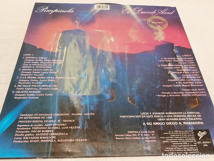 Discos de vinilo: PIMPINELA / EL DUENDE AZUL / LP - EPIC-1988 / MBC. ***/*** - Foto 2 - 269707928