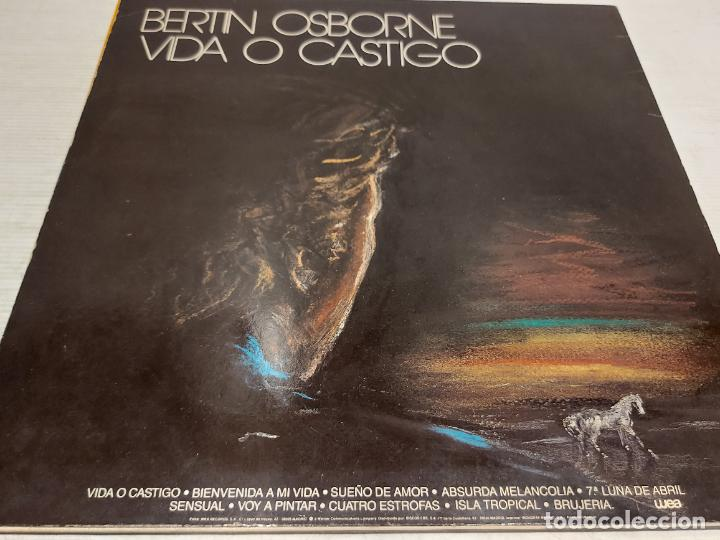 Discos de vinilo: BERTIN OSBORNE / VIDA O CASTIGO / LP - WEA RECORDS-1988 / MBC. ***/*** LETRAS - Foto 2 - 269708658