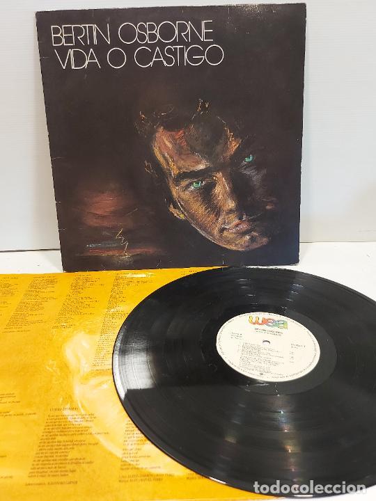BERTIN OSBORNE / VIDA O CASTIGO / LP - WEA RECORDS-1988 / MBC. ***/*** LETRAS (Música - Discos - LP Vinilo - Solistas Españoles de los 70 a la actualidad)