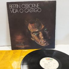 Discos de vinilo: BERTIN OSBORNE / VIDA O CASTIGO / LP - WEA RECORDS-1988 / MBC. ***/*** LETRAS. Lote 269708658